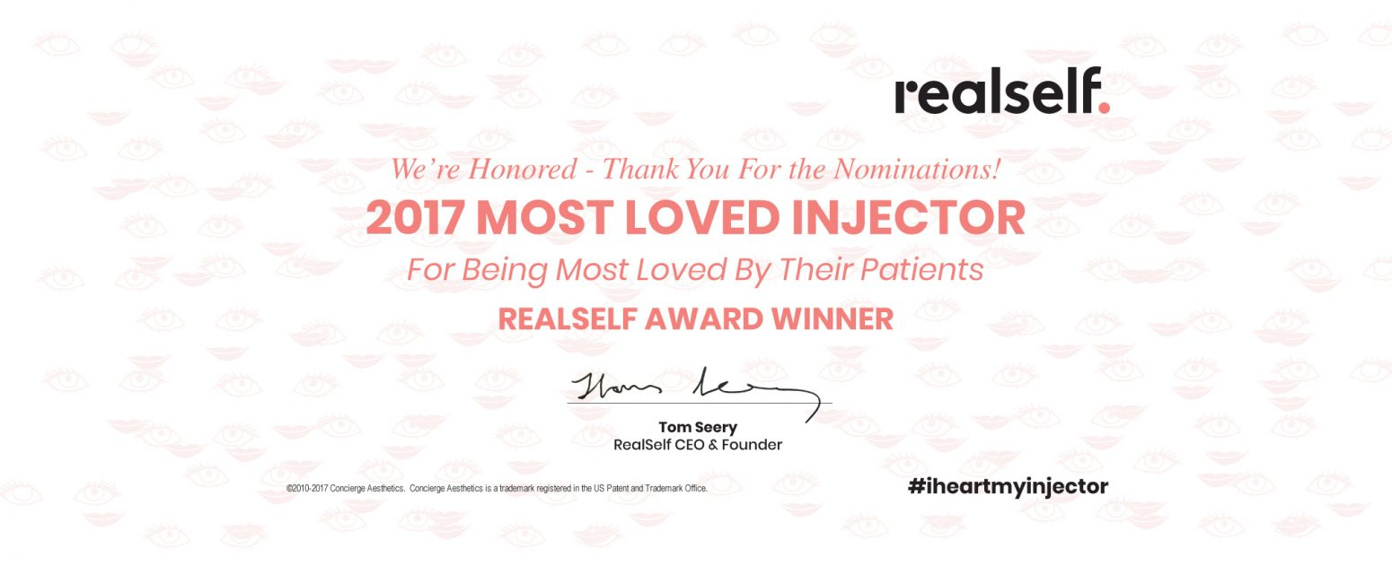 2017 Most Loved Injector Winner - Concierge Aesthetics