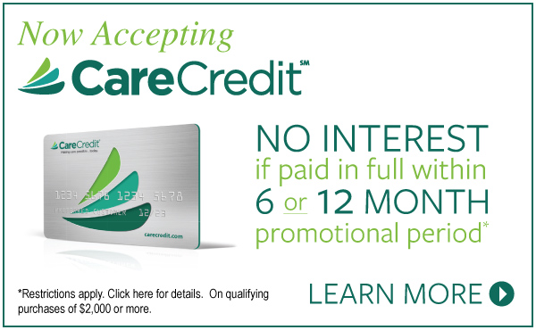 We Now Accept CareCredit